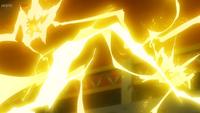 EP1107 Raichu de Visquez y Pikachu de Ash usando Rayo