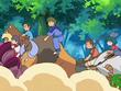 EP560 Alumnos cabalgando con sus Pokémon (2)