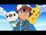 EP780 Ash, Oshawott y Pikachu