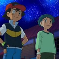 Ash y Angie contemplando las estrellas.
