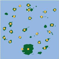 Isla Kumquat mapa