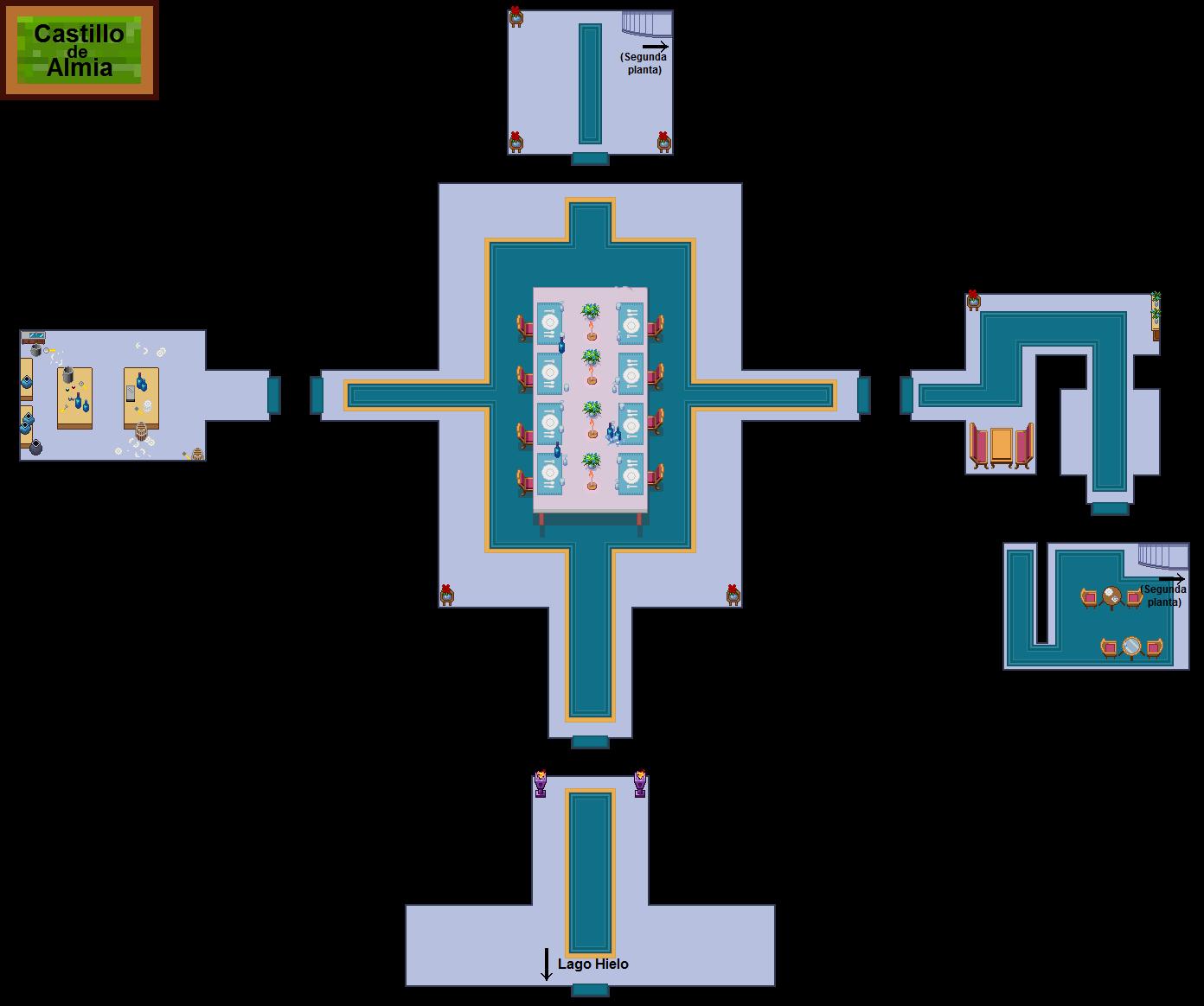 Plano de Castillo de Almia (primera planta)