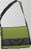 Bandolera bicolor verde oliva