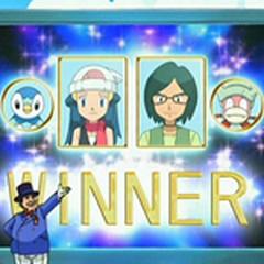 Pantalla del estadio anunciando ganadores a <a href=