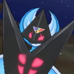 Lunala forma Necrozma en combate.