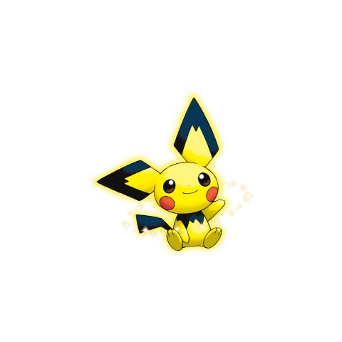 Artwork del Pichu color Pikachu.
