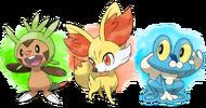 Pokémon iniciales 6ta generación