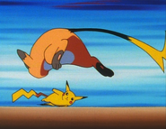 EP014 Pikachu usando agilidad