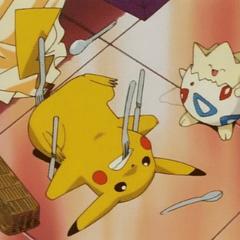 Pikachu cuidando de <a href=