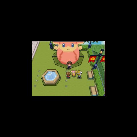 Estatua de Audino en Pokémon Negro 2 y Blanco 2.