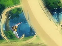 EP433 Ninjask usando ataque arena