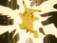 EP128 Pikachu usando Rayo