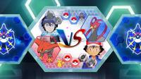 EP933 Pantalla del combate de Ash y Alain (4)