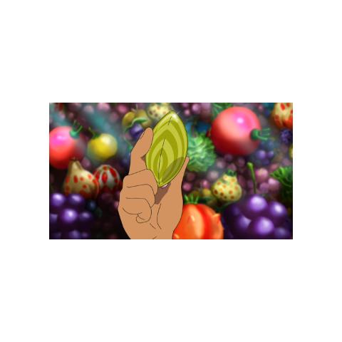 Ash cogiendo la semilla milagro