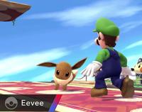 Eevee usando derribo SSB4 Wii U