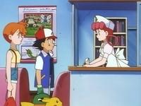 EP036 Ash, Misty, Joy y Pikachu