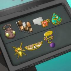 Estuche de Ash abierto con 7 medallas de <a href=