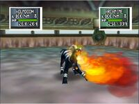 Houndoom usa lanzallamas en pokemon stadium 2