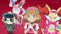 EP915 Serena y sus Pokémon