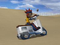 Moto de Mauro atascada en Pokémon XD