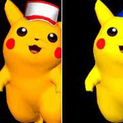 Paleta de colores de Pikachu en Super Smash Bros. Melee.