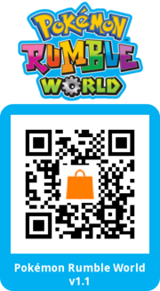 Código QR Actualización de Pokémon Rumble World