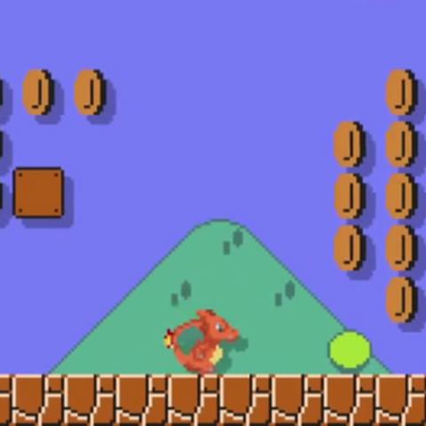 Sprite de Charizard en <i>Super Mario Maker</i>