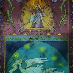...pero aunque la persona considerada el héroe será capaz de obtener grandes riquezas y poder, la bondad de su corazón se perderá y el país construido por el héroe será consumido por el fuego y entonces Reshiram se marchará.