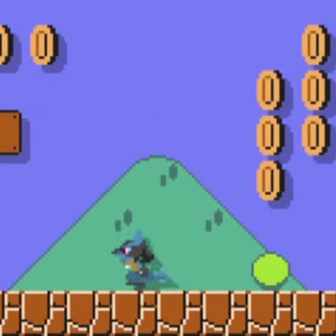 Sprite de Lucario en Super Mario Maker