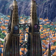 Vista trasera de las torres.