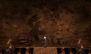 Pintura rupestre de Groudon primigenio