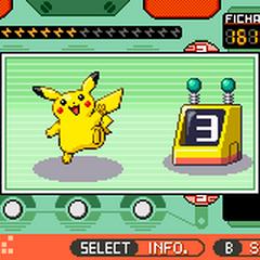 Pikachu al escoger un número.