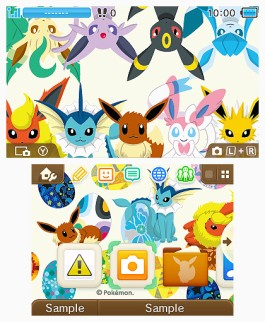 Tema 3DS Pokémon Colección Eevee