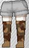 Calcetines de camuflaje marrón