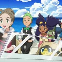 Ash, Cilan/Millo, Iris y <a href=