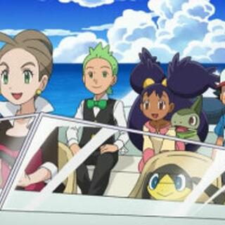 Alexia junto a Ash y los demás.