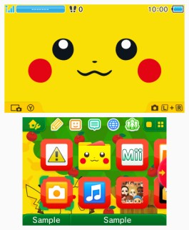 Tema 3DS Pokémon Grito de Pikachu