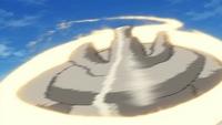 P14 Golurk usando giro bola