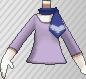 Camiseta con pañuelo morado