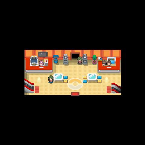 Centro Pokémon Diamante y Perla.