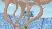 EP655 Contradefensa de Gastrodon usando agua lodosa vista desde arriba