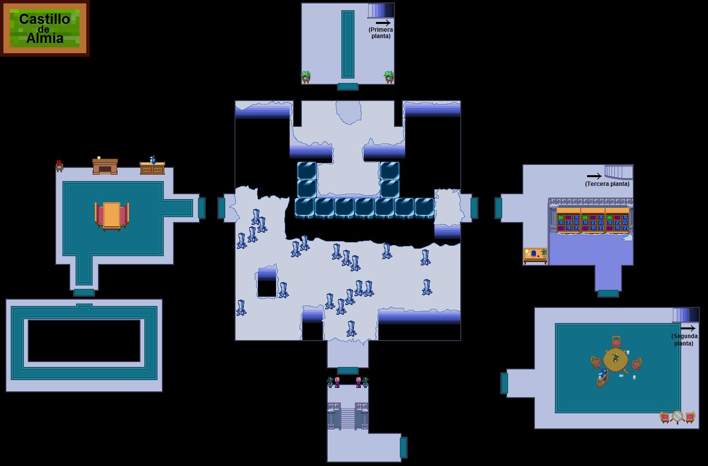 Plano de Castillo de Almia (segunda planta)