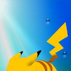Trofeo de Pikachu versión Smash en Melee.