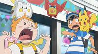 EP963 Chris asustando a Ash