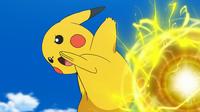 EP976 Pikachu usando bola voltio