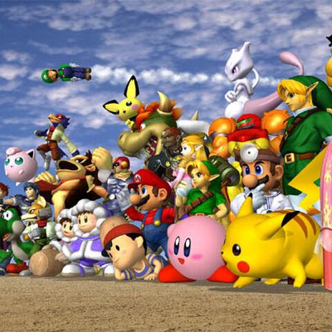 Todos los personajes de Super Smash Bros. Melee.