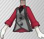 Chaleco con corbata gris