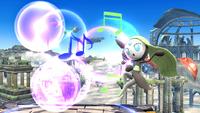 Meloetta atacando con su voz en SSB4 Wii U