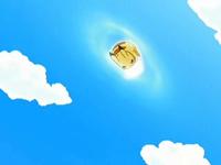 EP543 Pikachu cayendo con cola férrea