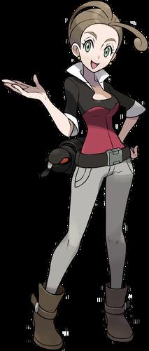 <i>Ilustración de Alexia en Pokémon X/Y</i>